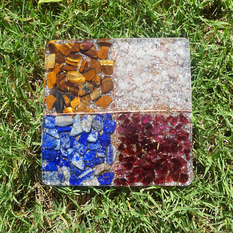 Orgonite 4 Elements Coaster by Vibernation