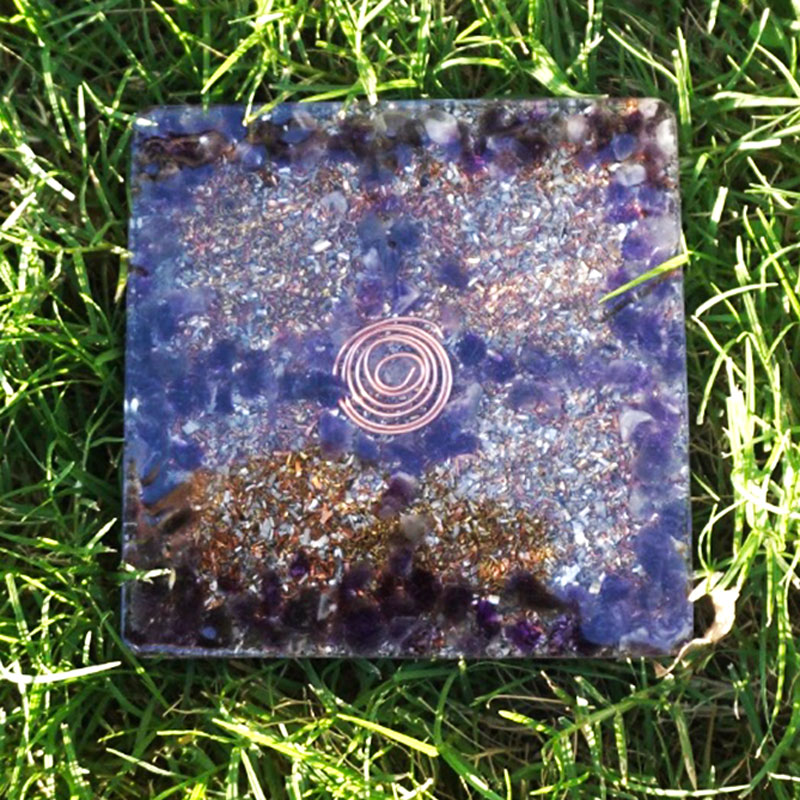 Orgonite Amethyst Coaster by Vibernation